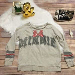Distressed Minnie Mouse sports-jersey Sweater