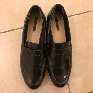 Zara penny Loafers Sz 41 black
