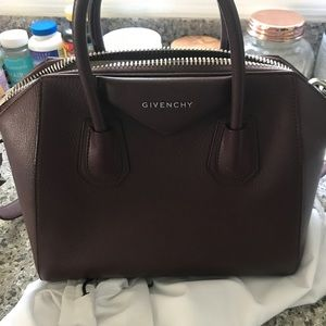 Givenchy Small Antigona Satchel Burgundy