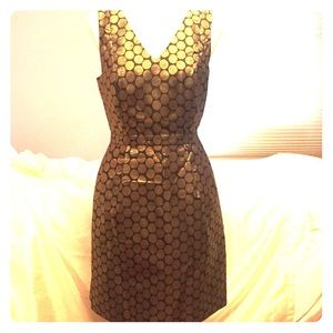NWT Gold and black J CREW cocktail dress Sz 19