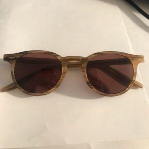 Barton perreira tortoise wood sunglasses