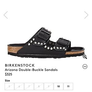 Studded black leather Birkenstock's