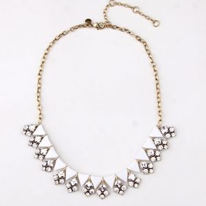 JUST IN J.Crew White Clear Crystal Necklace