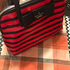 Authentic Kate Spade striped bag