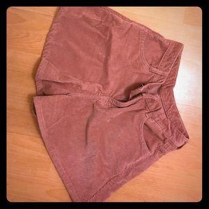 Dresses & Skirts - Pink velvet high waist skorts