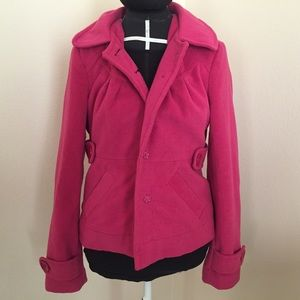 Tulle hot pink peacoat