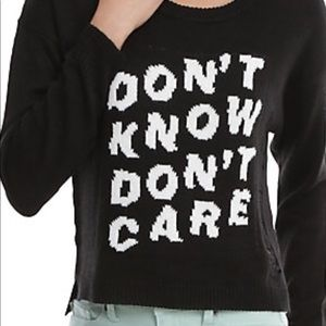 DON'T KNOW DON'T PULLOVER DESTRUCTION SWEATER