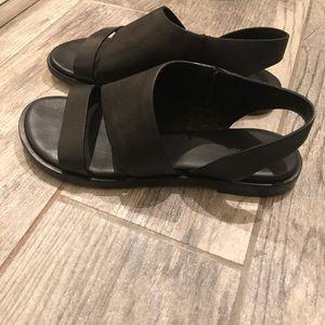 All Saints Black Leather Sandals