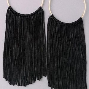Jewelry - Fringe Hoop Large Earrings
