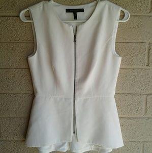 BCBG Maxazria Sleeveless Suit Top Blouse