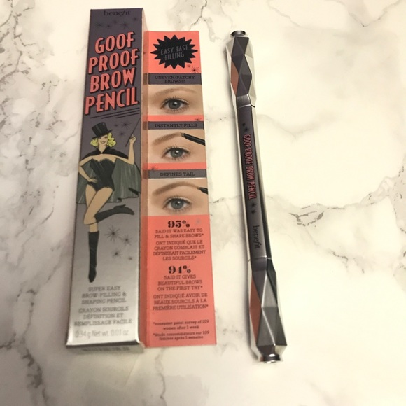Benefit Makeup Goof Proof Brow Filler Pencil Blonde 1 Poshmark