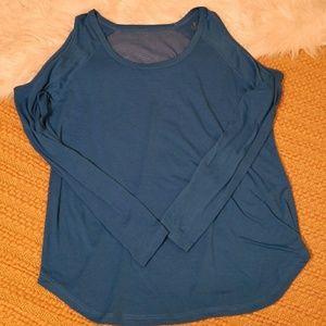 "Blue ""THE WARM UP"" AthleticTop by JESSICA SIMPSON"