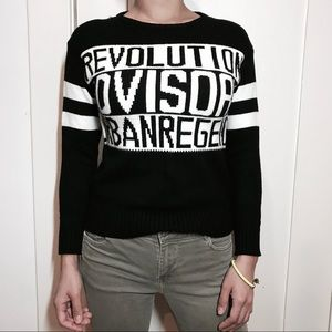 🖤 Graphic knit sweater 🖤