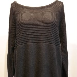 Olivaceous Black Knit Sweater