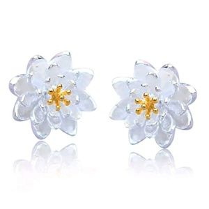 Jewelry - Flower Power Lotus Earrings.  New