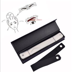 Eyebrow shaping template with belt