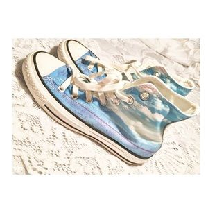 Converse Sky Print High Top All Star Sneakers