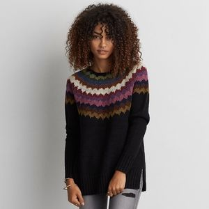 AEO Ahh-Mazingly Soft Pullover Sweater Fair Isle