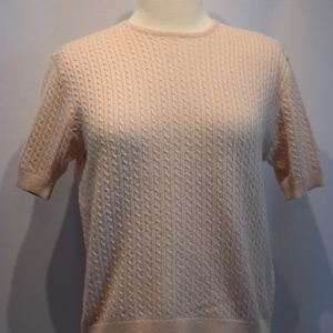 Vintage Paccini Cashmere Cable Knit Blush Sweater
