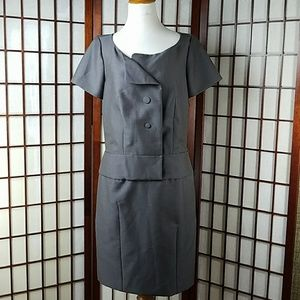CHLOE ANTHRACITE SHEATH DRESS MADE IN FRANCE