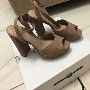 Aldo Shoes Kalissi Platform Beige Sz 8