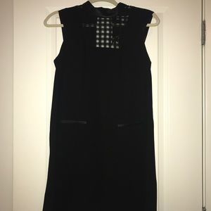 LITTLE BLACK DRESS WITH LEATHER TRIM!!
