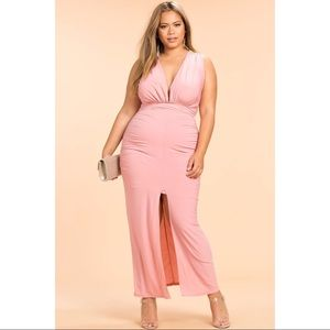 Elegant Mauve Plus size dress 3X