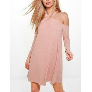 Blush Soft Rib Swing Dress