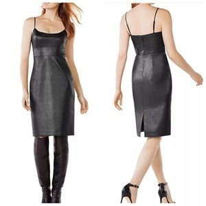 Alese Faux Leather Dress