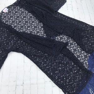 Lace Monroe Kimono w/ Fringe