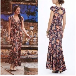 Anthropologie Bruna Floral Maxi Dress
