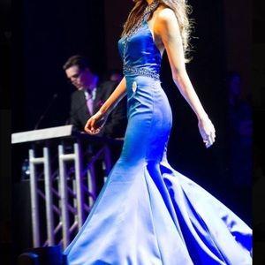 Blue Sherri hill mermaid dress : $125/ OBO