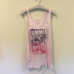 Two Nine One 'summer of love' pink tank