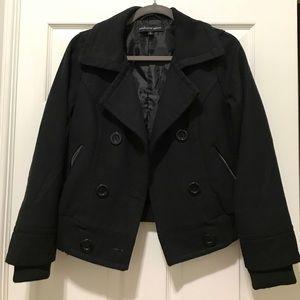 Black short pea coat