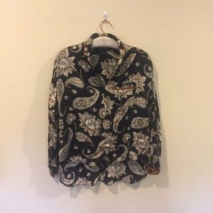 French Connection paisley button down shirt