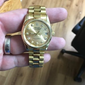 38mm gold plated presidential