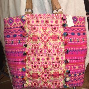 NWT! multi colored large tote bag Francesca's