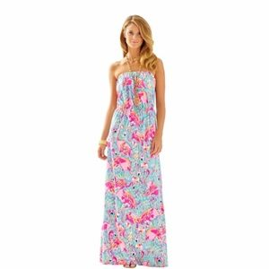 NWT Lilly Pulitzer 'Marlisa' strapless maxi dress