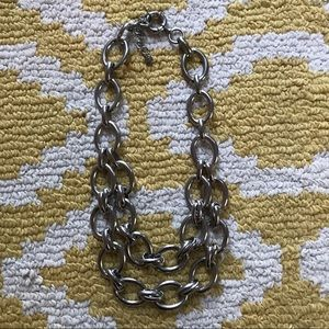 Loft Silver Chain Statement Necklace