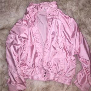 🌸Vintage Pink Adidas Bomber Jacket🌸{Offers}