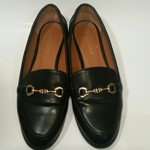 Black Topshop loafers with gold fixtures size 38 8