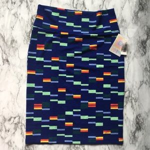 LulaRoe Block Print Cassie Skirt