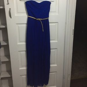 Charlotte Russe blue floor length dress