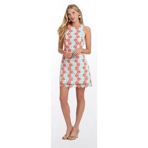 Lilly Pulitzer Sunrise Orange Pearl Shift Dress
