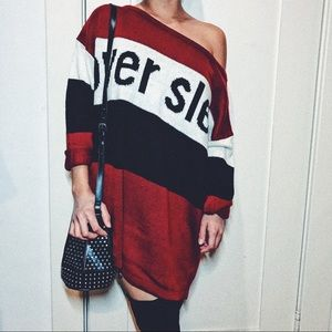 """😍""""Overslept"""" graphic knit sweater dress💕"""