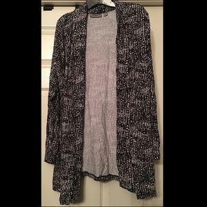 VIP Knit Black & White spot print open cardigan