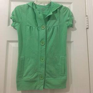 Mint green vest