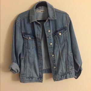 Topshop MOTO oversized denim jacket