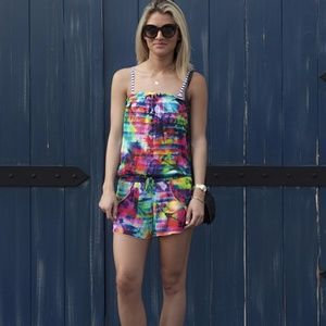 Seafolly strapless colorful floral romper