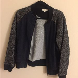 Madewell sweatshirt bomber (wore twice)